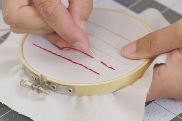 How to Sew a Straight Line by Hand: Step 7a