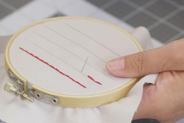 How to Sew a Straight Line by Hand: Step 6