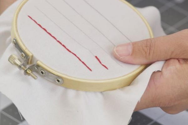 How to Sew a Straight Line by Hand: Step 5b