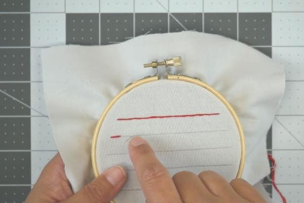 How to Sew a Straight Line by Hand: Step 4