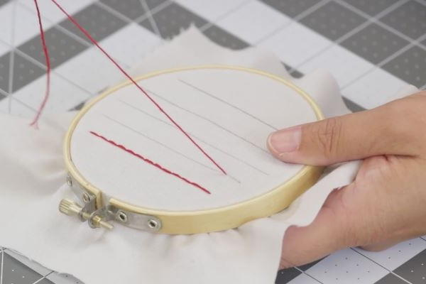 How to Sew a Straight Line by Hand: Step 2