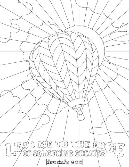 whimsical hot air balloon coloring page | favecrafts.com - Hot Air Balloon Pictures Color