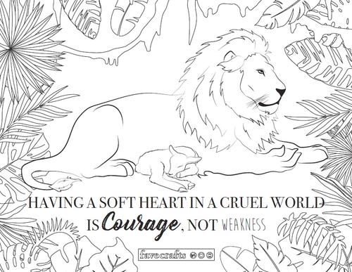 coloring pages lion and lamb - photo#1