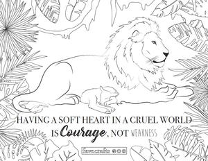 Lion | Free Printable Templates & Coloring Pages | FirstPalette.com | 232x300
