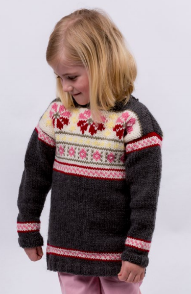 Girls Fair Isle Knit Sweater Pattern