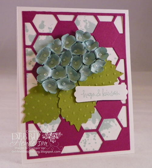 Pretty Paper Punch Hydrangea Card