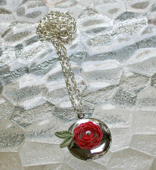 Quilled Rose Locket