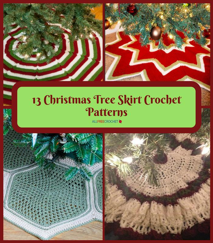 13 Christmas Tree Skirt Crochet Patterns Allfreecrochet