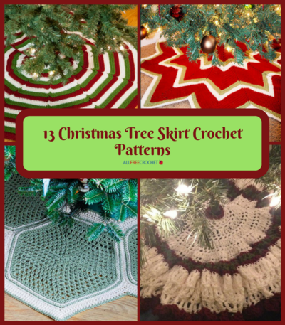 Christmas Tree Skirt Patterns.13 Christmas Tree Skirt Crochet Patterns Allfreecrochet Com