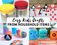 54 Simple Kids Craft Ideas with Household Items