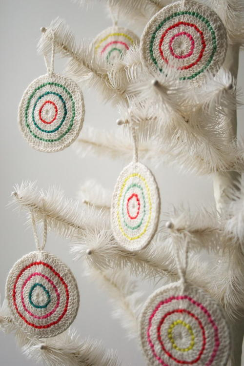Candy Crochet Christmas Ornament