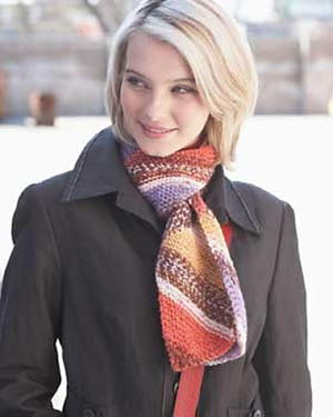 Chic Diagonal Stripe Scarf