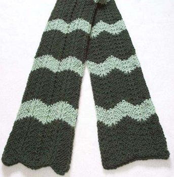 Sirdar Snuggly Knitting Patterns : Chevron Scarf FaveCrafts.com
