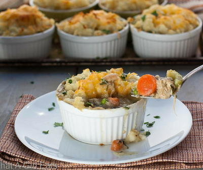 Cheddar Potato-Crusted Pot Pies