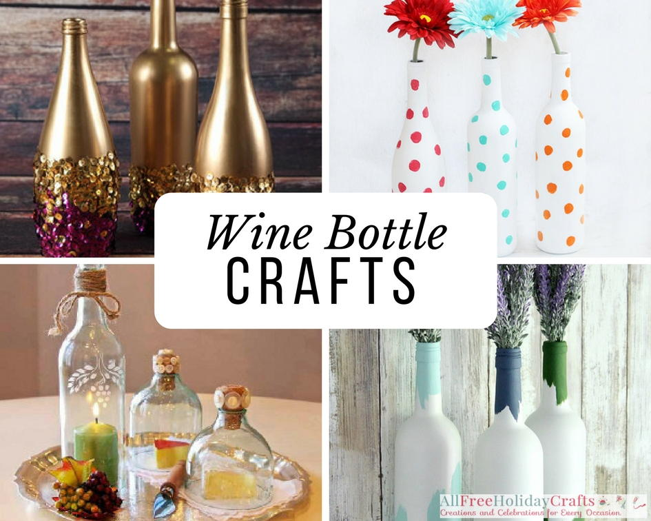wine bottle crafts 20 things to make with wine bottles allfreeholidaycrafts 3231