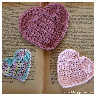 Lovely Valentines Day Crochet Hearts
