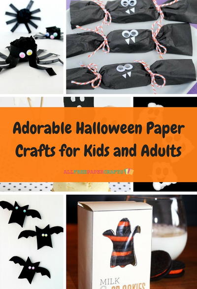 Adorable Halloween Paper Crafts for Kids and Adults