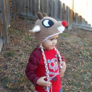 Charming Rudolph the Reindeer Hat