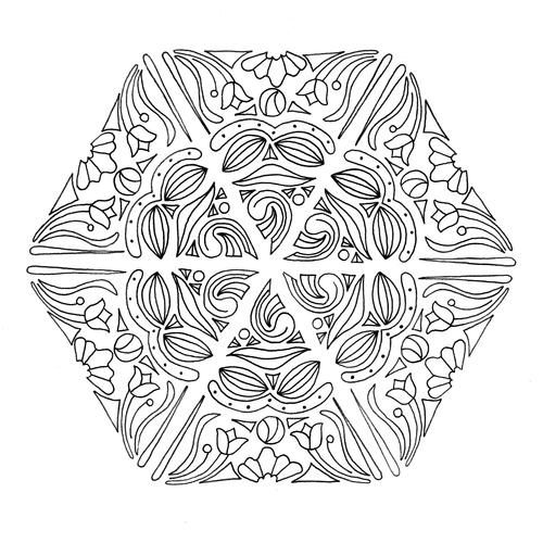 Mandala Magic Adult Coloring Page FaveCrafts
