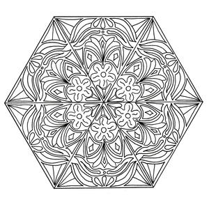 Mandala Happiness Adult Coloring Page