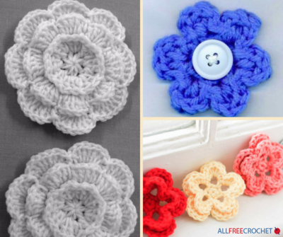 How To Crochet Flowers 3 Easy Flower Patterns