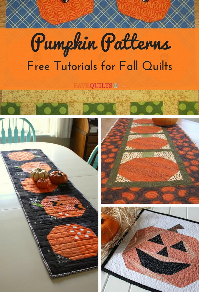 19 Pumpkin Patterns Free Tutorials For Fall Quilts