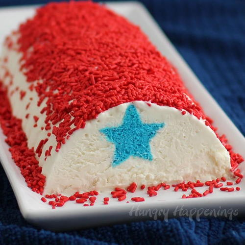 Red White and Blue Ice Cream Roll
