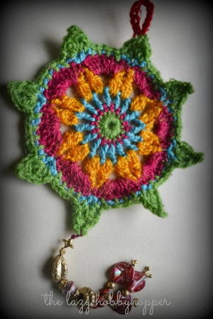 Brightly Colored Crochet Ornaments