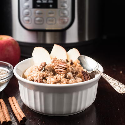 Apple Pie Instant Pot Steel Cut Oats