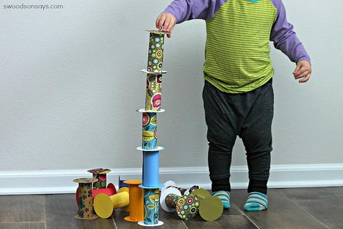 Kiddie Blocks Toilet Paper Roll Craft