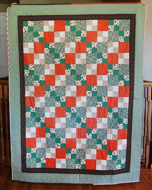 Candy Corn Four Patch Quilt