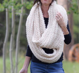 Half Fisherman Rib Stitch Scarf
