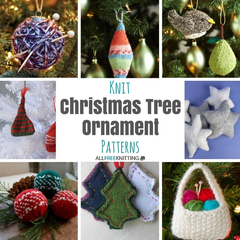 Knitted Xmas Tree Decorations Patterns : 27+ Knit Christmas Tree Ornament Patterns AllFreeKnitting.com