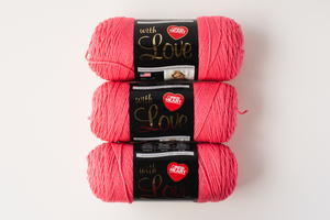 Papaya Red Heart With Love Yarn Bundle Giveaway