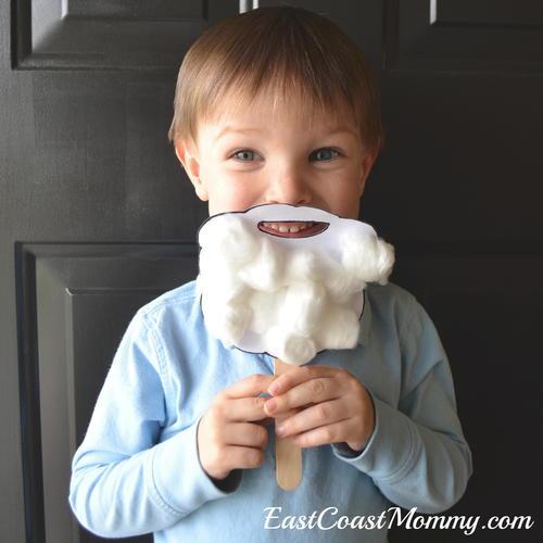 Santa Beard Template Craft Allfreechristmascrafts Com