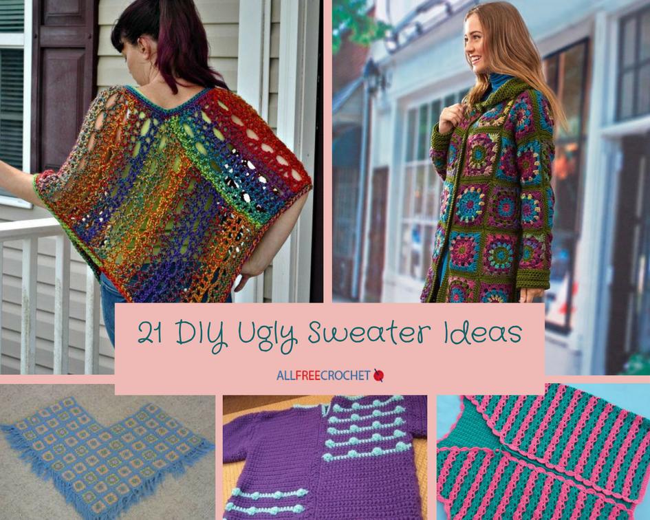 21 Diy Ugly Sweater Ideas Allfreecrochet Com