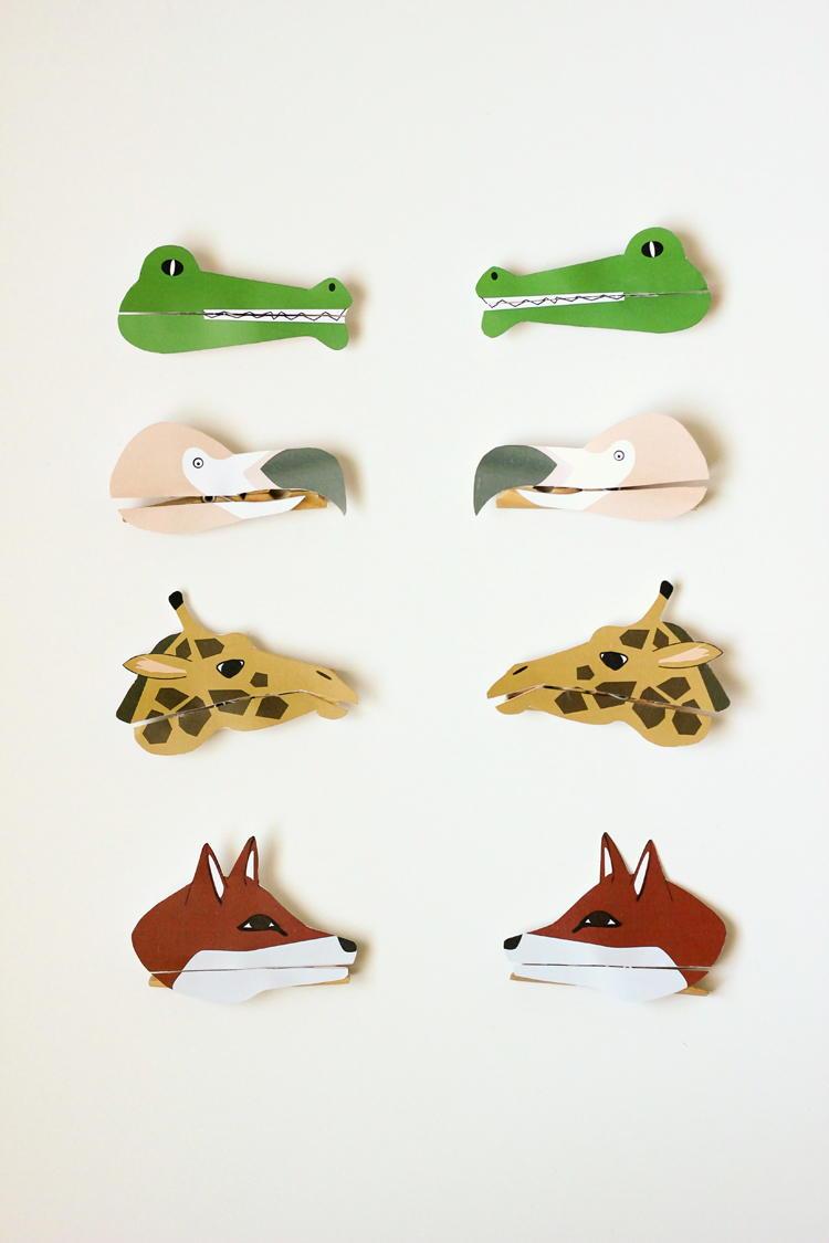 Clothespin Puppet Animal Craft