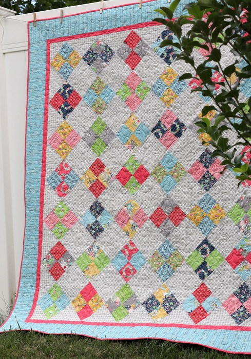 Farmhouse Four Patch Quilt Tutorial