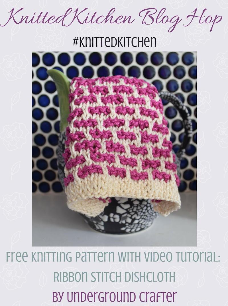 Knitting Ribbon Stitch : Ribbon Stitch Dishcloth AllFreeKnitting.com