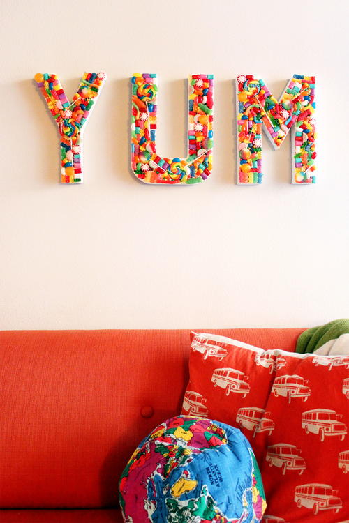 Yummy Statement Candy Sign