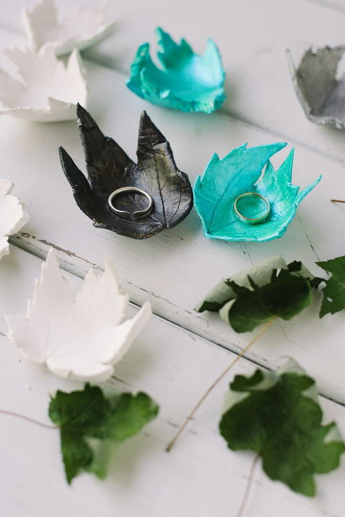 DIY Clay Leaf Jewelry Dish