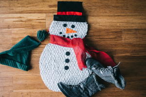 Holiday Snowman DIY Doormat