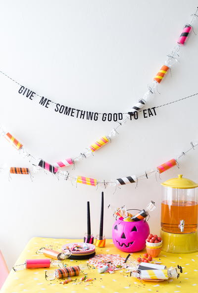 Toilet Paper Roll Candy DIY Garland