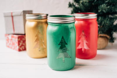 Christmas Tree Mason Jar Craft