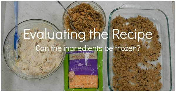 Evaluating the Recipe: Can the ingredients be frozen?