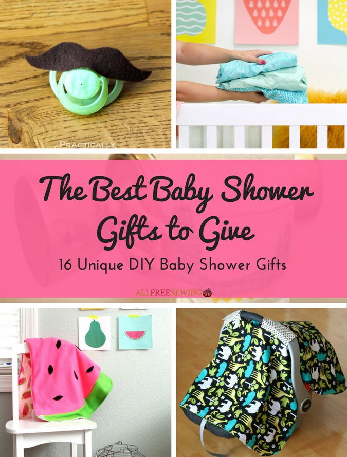 The Best Baby Shower Gifts To Give: 16 Unique DIY Baby Shower Gifts |  AllFreeSewing.com