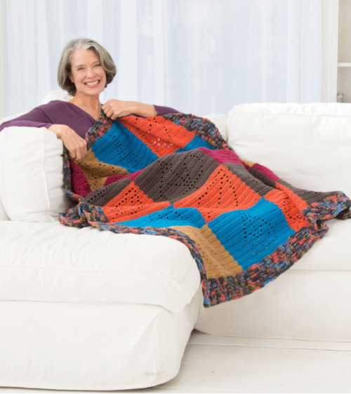 Caring Comfort Crochet Throw