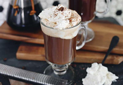 American Q's Bourbon and Bacon Hot Chocolate