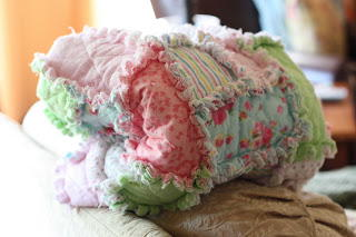 I Can Teach My Child Rag Quilt