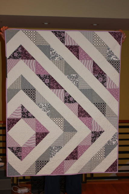 Shiner's View  Purple Diamond Quilt
